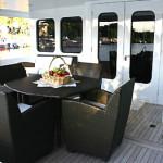 122' Oceanfast Yacht Aft Deck