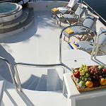 122' Oceanfast Yacht Flybridge Jacuzzi Area
