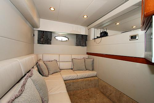 48' Formula Boat VIP Cabin Seating Area