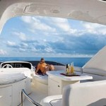 62' Azimut Yacht Flybridge Area