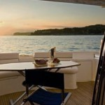 62' Azimut Yacht Flybridge Eating Area