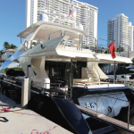84' Azimut Yacht Stern at Miami Beach Marina