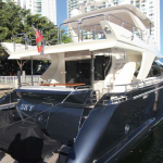 84' Azimut Yacht Stern at Port in Miami