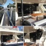 84' Azimut Yacht Aft Deck Area
