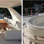 84' Azimut Yacht Flybridge with Hot Tub