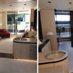 84' Azimut Yacht Saloon Area