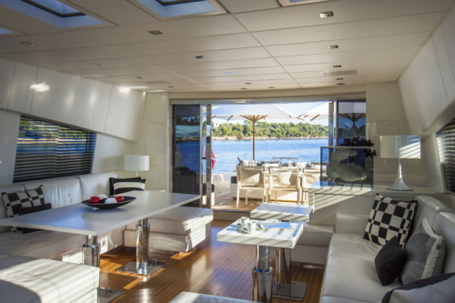 106 Leopard Yacht Charter Dinning Day