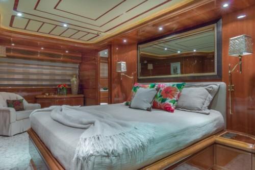 94 Ferretti Miami Yacht Charter Master State Room