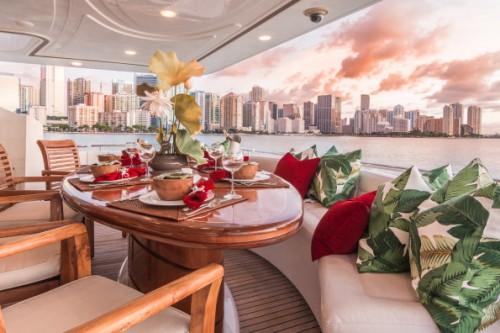 94 Ferretti Miami Yacht Charter Lacquer Table