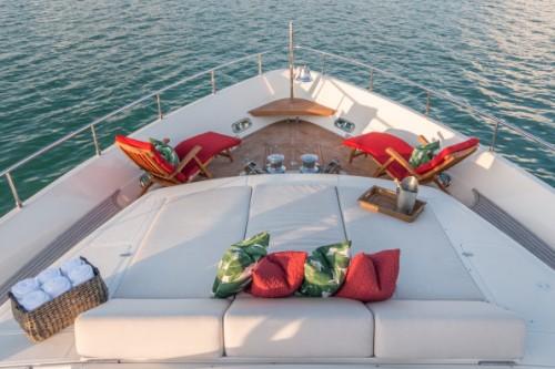 94 Ferretti Miami Yacht Charter Sun Deck