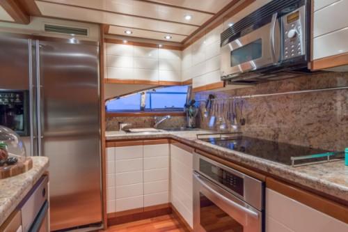 94 Ferretti Miami Yacht Charter Galley