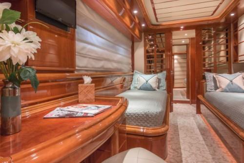 94 Ferretti Miami Yacht Charter Guest Room