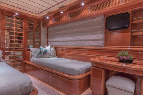 94 Ferretti Miami Yacht Charter Guest Room 2