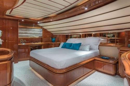 94 Ferretti Miami Yacht Charter VIP Room