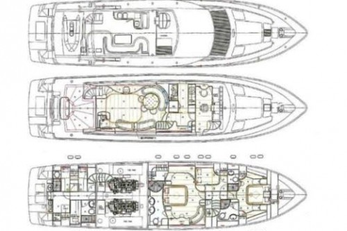 76 Horizon Miami Yacht Charter Layout