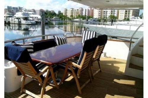 76 Horizon Miami Yacht Charter Aft