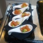 Gourmet Food Sample - Salmon Sashimi Spoons