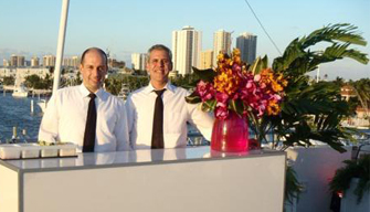 Servers on Party Boat